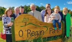 Members of Dr. O' Regans Family at the opening of O' Regan Park in Oct 2013