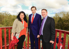 Heritage Officer Tracey Daly, Minister Simon Harris and Joe Carey TD at the opening of Mooghaun Viewing Platform