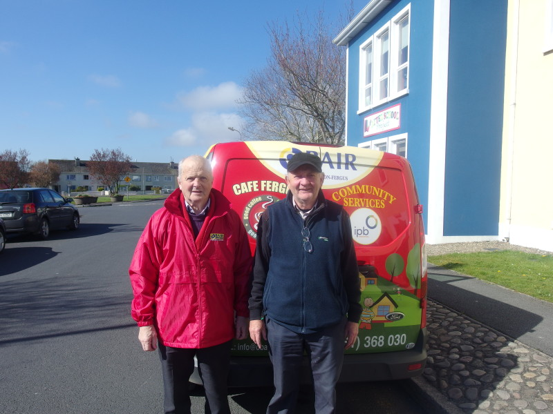 Meals on Wheels volunteers Noel and Paddy!