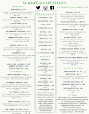 Cafe Menu Summer 2018 latest